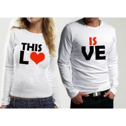 Комплект блузи за влюбени THIS IS LOVE