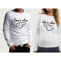 Комплект блузи за влюбени SHE' S MINE & HE' S MINE