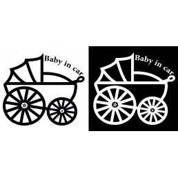 Стикер Baby in car