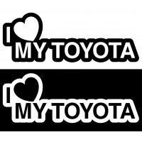 Стикер I Love my Toyota