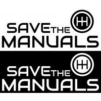 Стикер Save the manuals