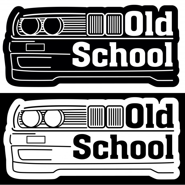 Стикер Old School