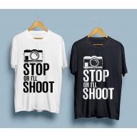 Тениска Stop or I'll shoot